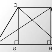Як знайти довжину діагоналей трапеції