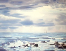 Як намалювати море аквареллю