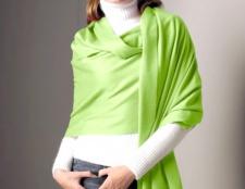 Як носити довгий шарф