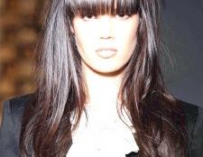 Як зробити чубок на довгому волоссі