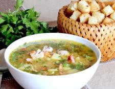Як зварити гороховий суп з копченостями