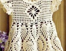 Як зв'язати дитяче плаття гачком