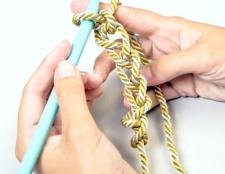 Як зв'язати шнур гачком