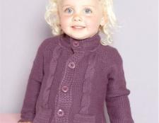 Як зв'язати светр для дівчинки