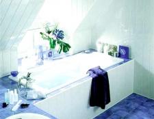 Як обшити ванну пластиком