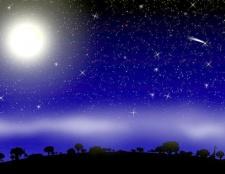 Як намалювати нічне небо